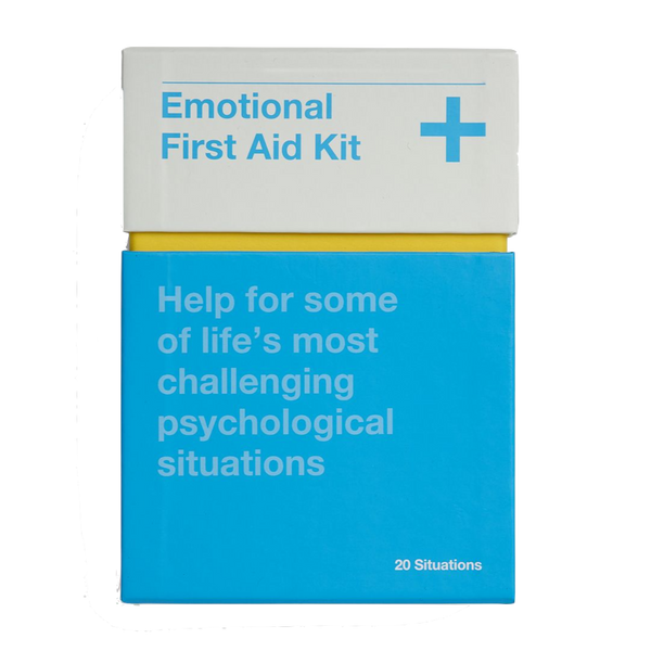 Picture of The School of Life's Emotional First Aid Kit booklets for 20 challenging situations