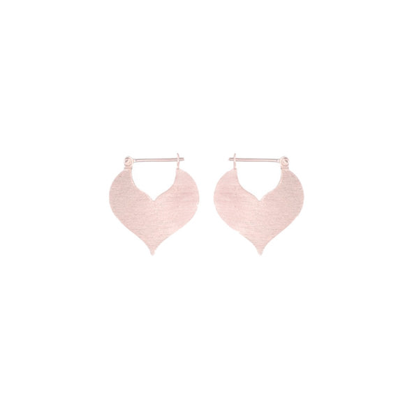 Fresh and minimalist rose gold ethnic earrings Ruby by Keep it Peachy now online on Cuemars
