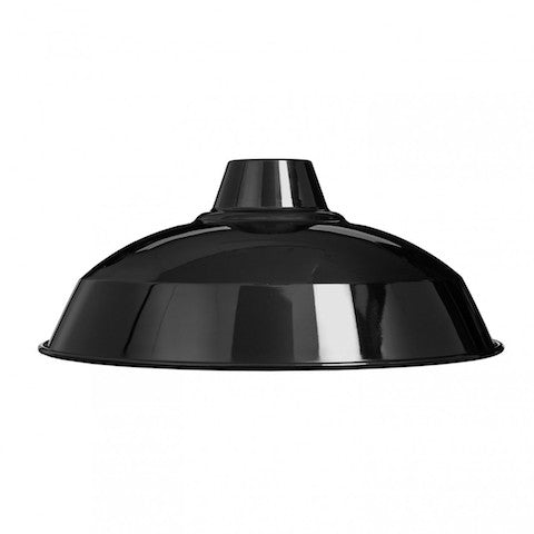 Industrial Lamp Shade - Glossy Black