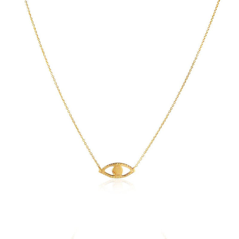 Momocreatura Gold Plated Sterling Silver Eye Necklace