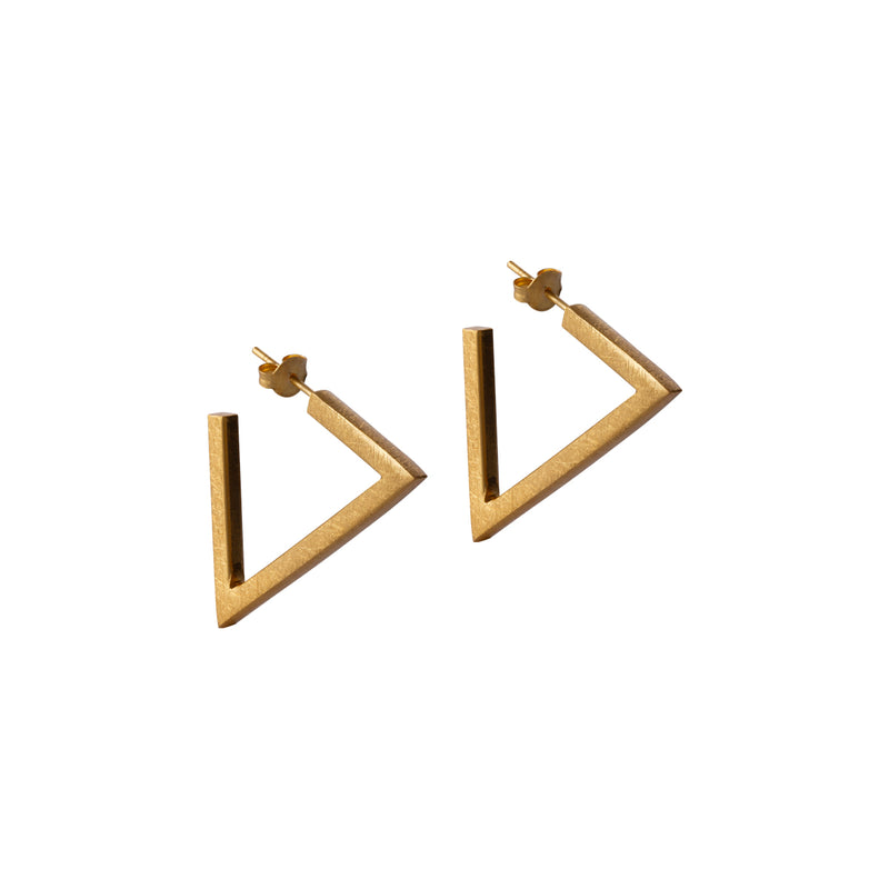 Triangle Gold Earrings by Corosch | Discover now at Cuemars