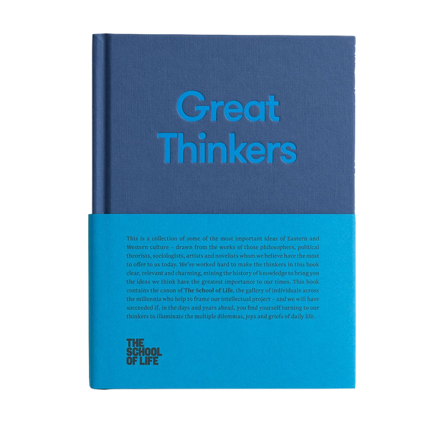 The School of Life Great Thinkers book showcasing ideas from the best thinkers of our millenium