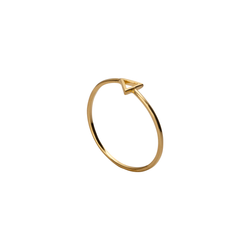 Kiera Triangle Gold Ring | Keep it Peachy | Discover now at Cuemars