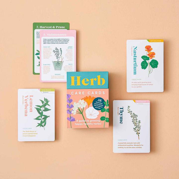 Flat Lay Picture of Another Studio Herb Care Cards available to purchase at cuemars.com