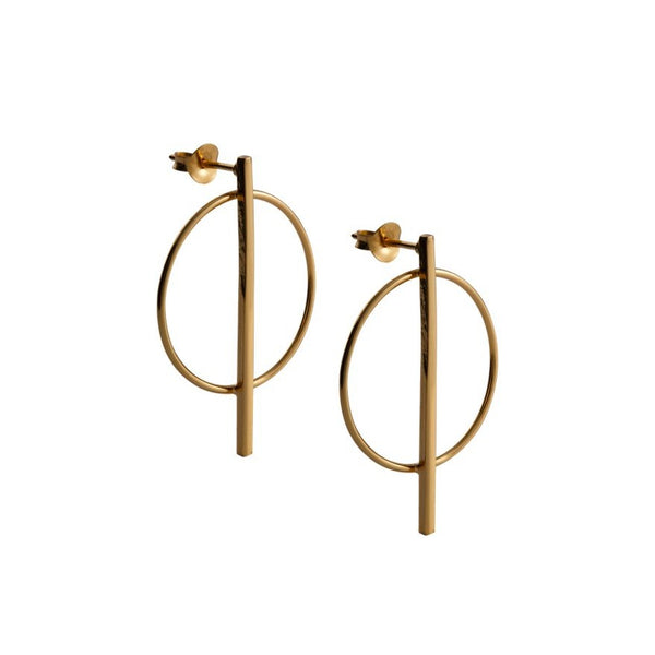 Fresh and minimalist hoop drop earrings Olivia by Keep it Peachy now online in Cuemars
