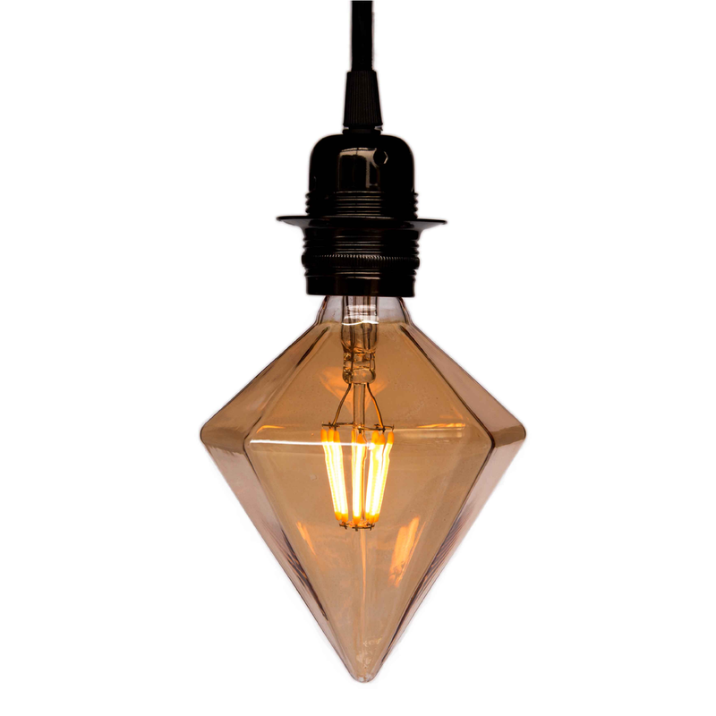 Diamond Led Light Bulb Edison style vintage and industrial lighting cuemars