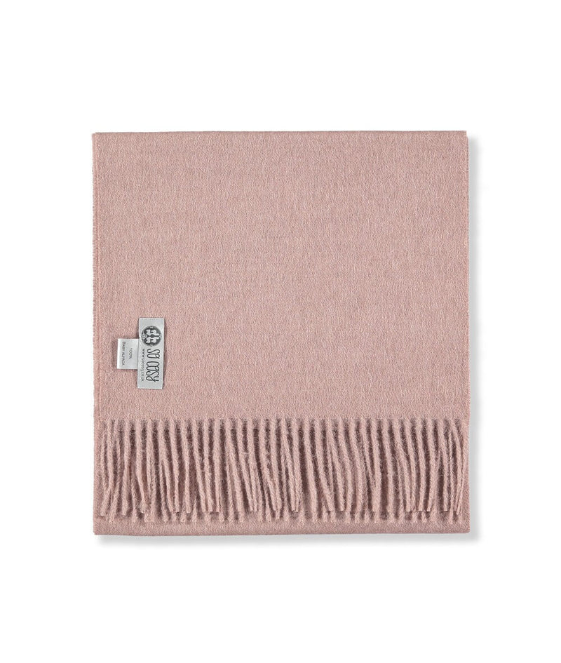 Baby Alpaca Scarf in Light Pink by So Cosy London | Discover now at Cuemars