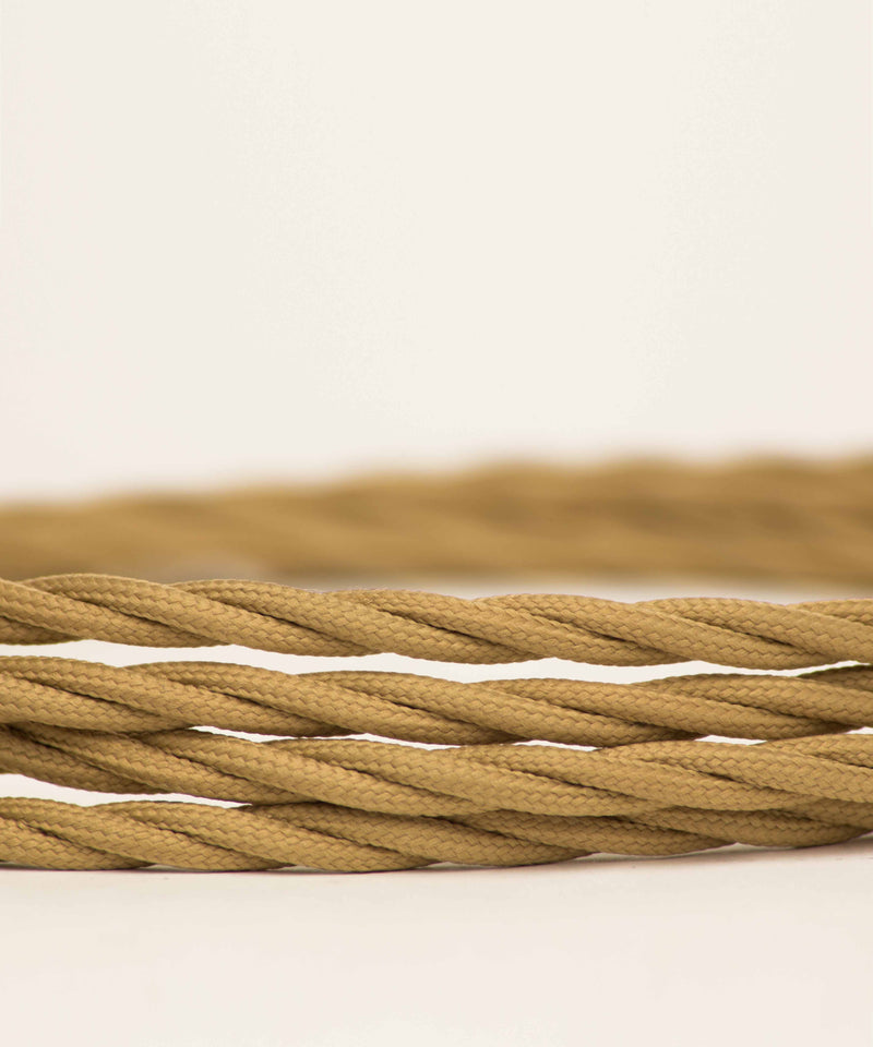 Beige twisted lighting fabric cable vintage lighting industrial lighting cuemars