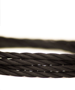 Black twisted lighting fabric cable vintage lighting industrial lighting cuemars