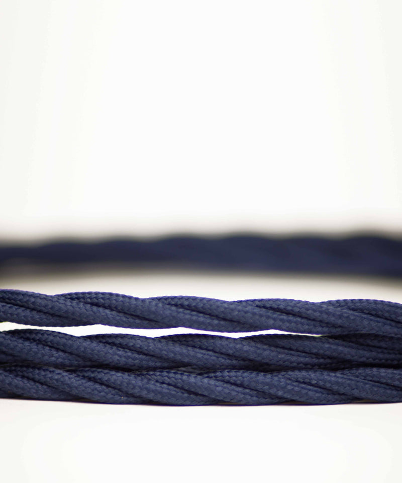 Dark Blue twisted lighting fabric cable vintage lighting industrial lighting cuemars