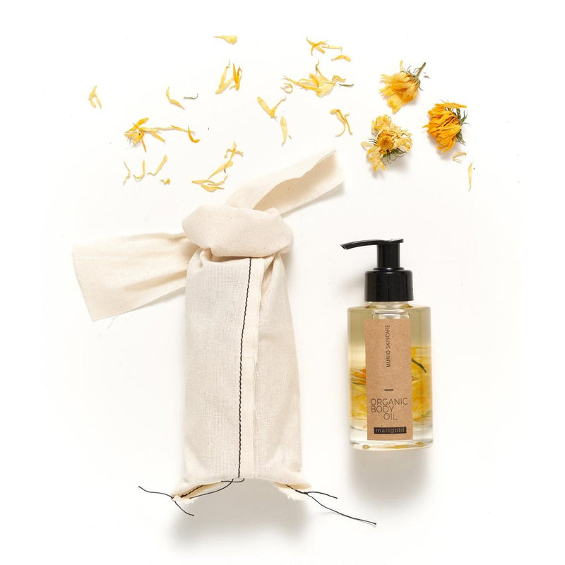 The Munio Organic Body Oil with Marigold Natural Skin Care