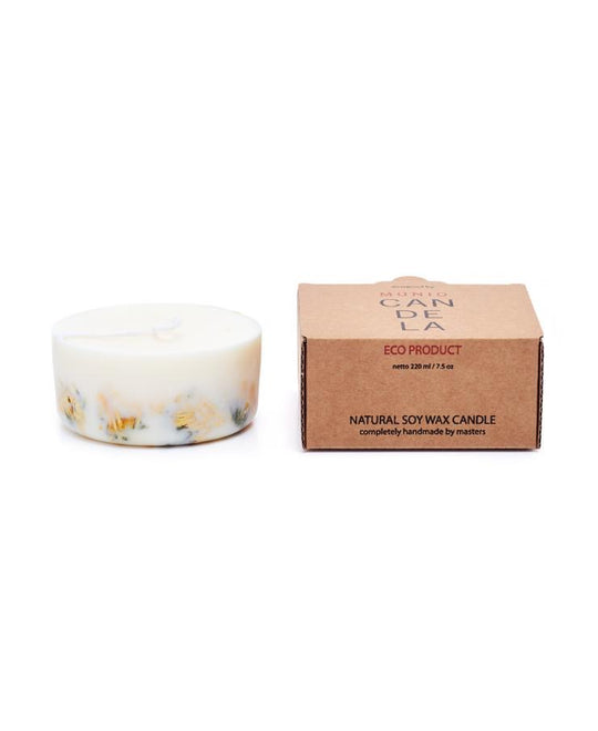 Marigold Flowers Mini Soy Wax Candle