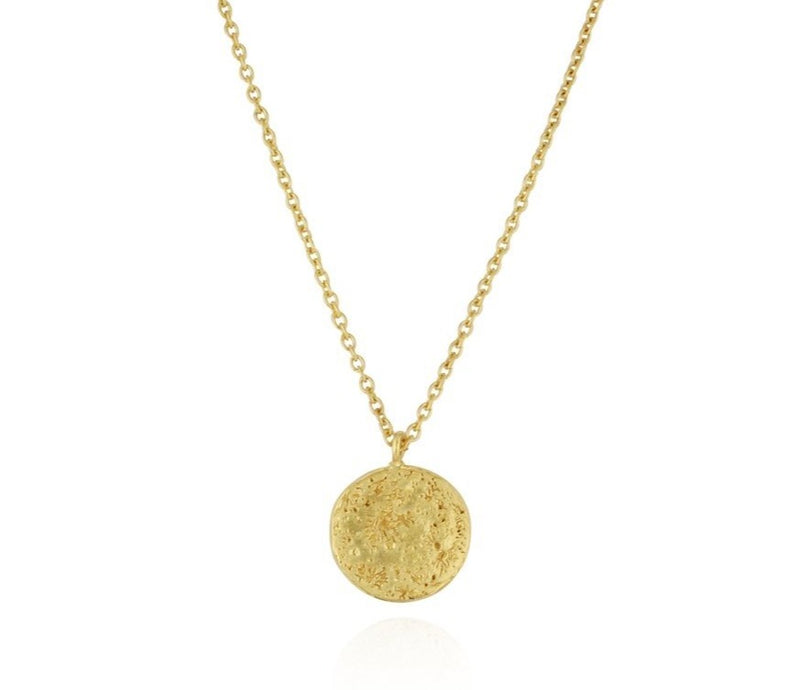 Momocreatura Disc Moon Necklace Gold
