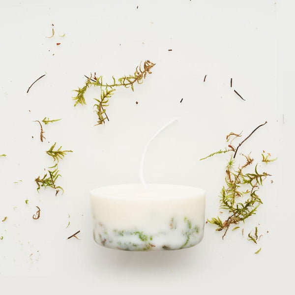Moss eco soy wax mini candle