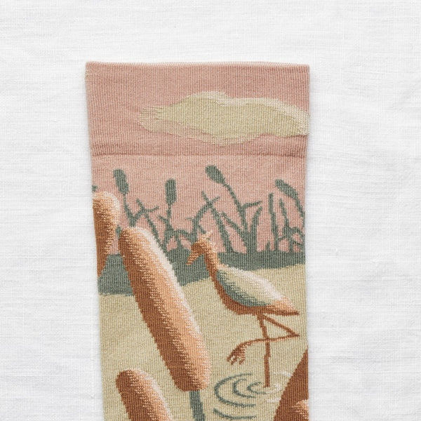 Bonne Maison Egyptian Cotton Socks 'Nude Ibis' | Unisex Socks available at UK stockists Cuemars.