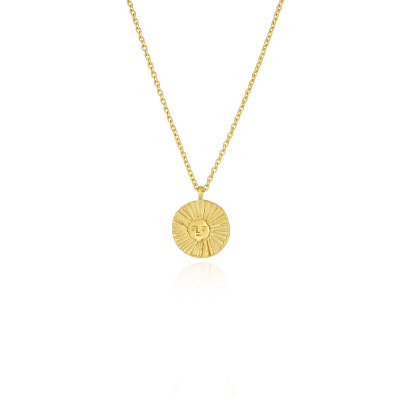 Necklace - Sun disc gold