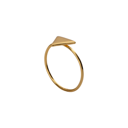 Nora Triangle Gold Ring | Keep it Peachy | Discover now at Cuemars