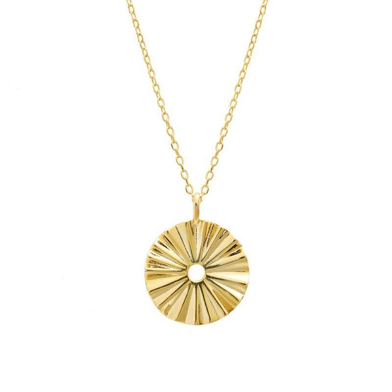 Fresh and minimalist gold choker sun necklace by Keep it Peachy now online on Cuemars