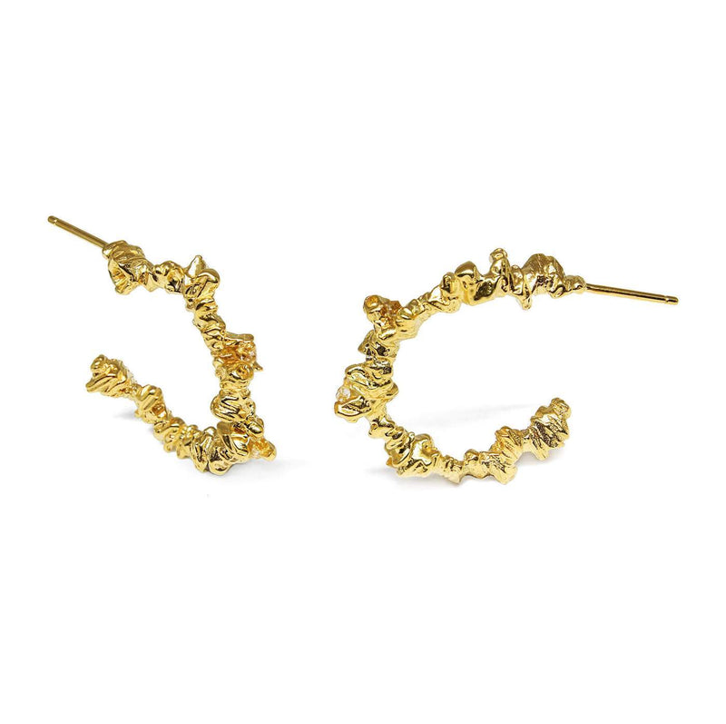 Gold Irregular Hoops - Under Earth Collection