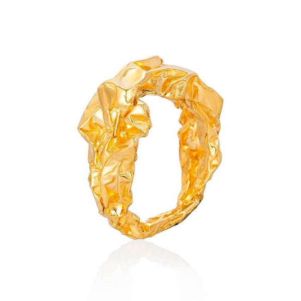 Gold Sculptural Ring - Crush Collection