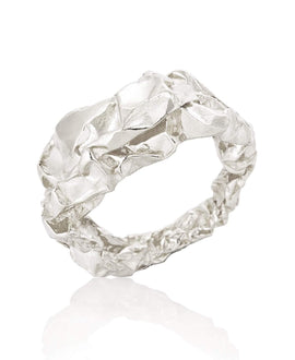 Sterling Silver Sculptural Ring - Crush Collection