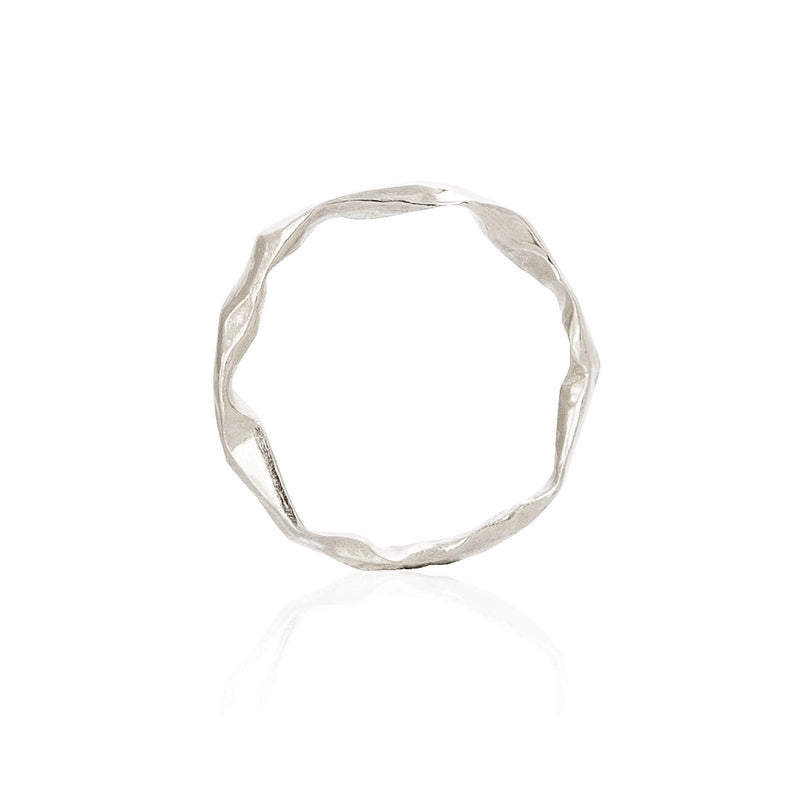 Handmade silver band from the Crush Collection Niza Huang