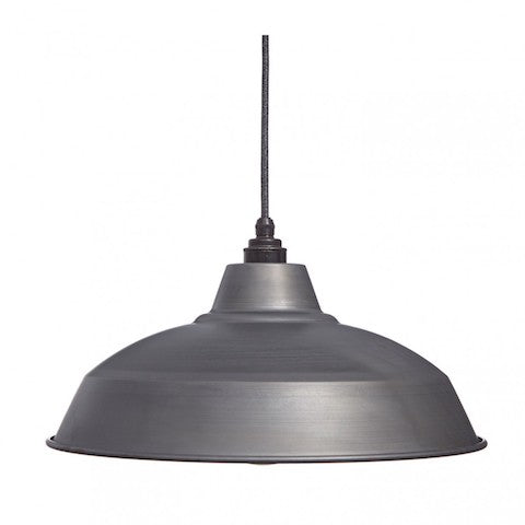 Industrial Lamp Shade Raw Steel Cuemars