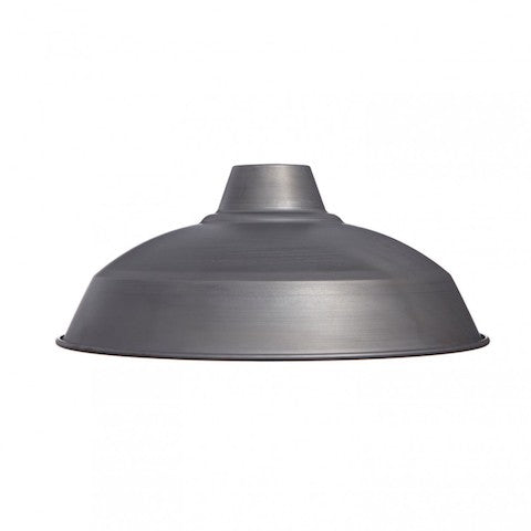 Industrial Lamp Shade - Raw Steel