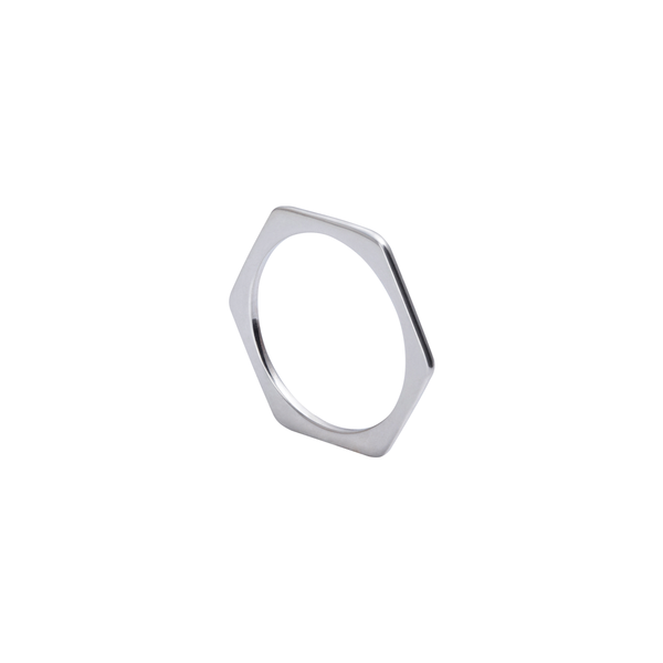 Hazel Hexagon Silver Ring | Keep it Peachy | Discover now at Cuemars