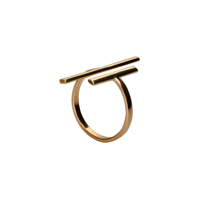 Victoria Gold Parallel Ring | Keep it Peachy | Discover now at Cuemars