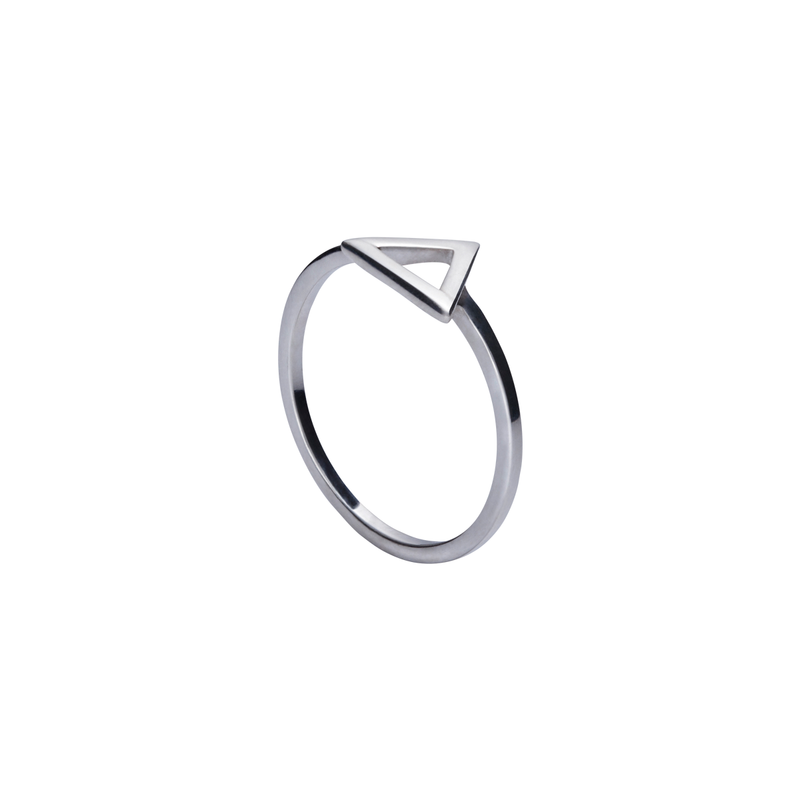 Alana Triangle Silver Ring | Keep it Peachy | Discover now at Cuemars