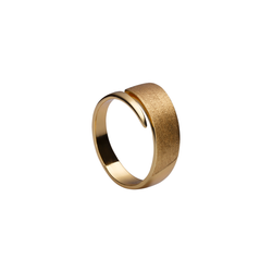 Ring band brushed gold