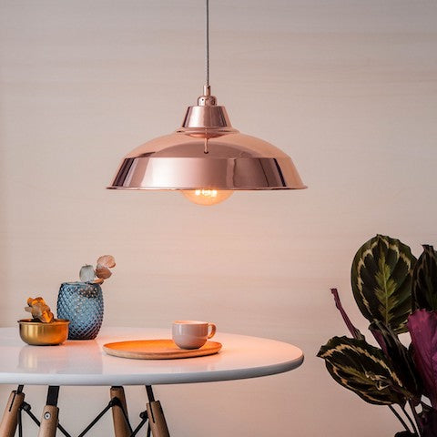Industrial Lamp Shade Rose Gold Cuemars