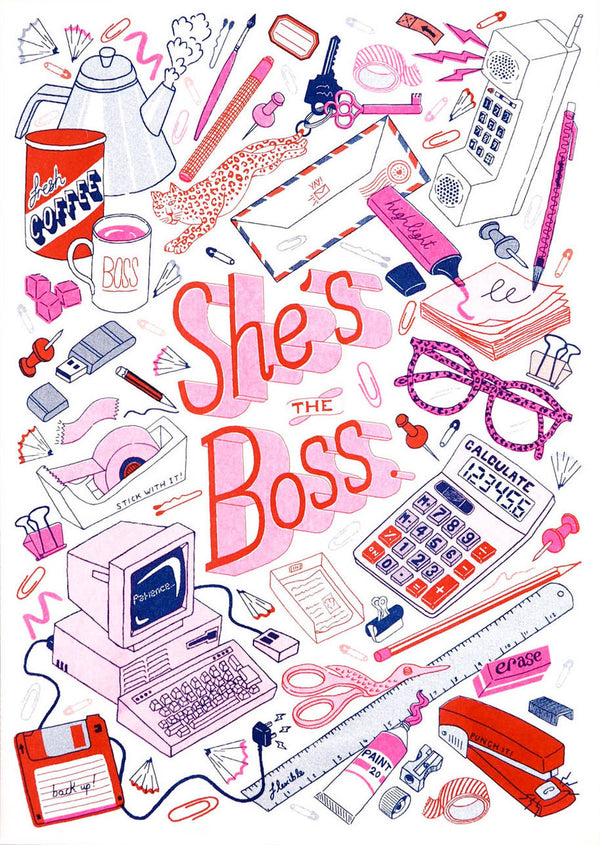 Riso Print - SHE'S THE BOSS
