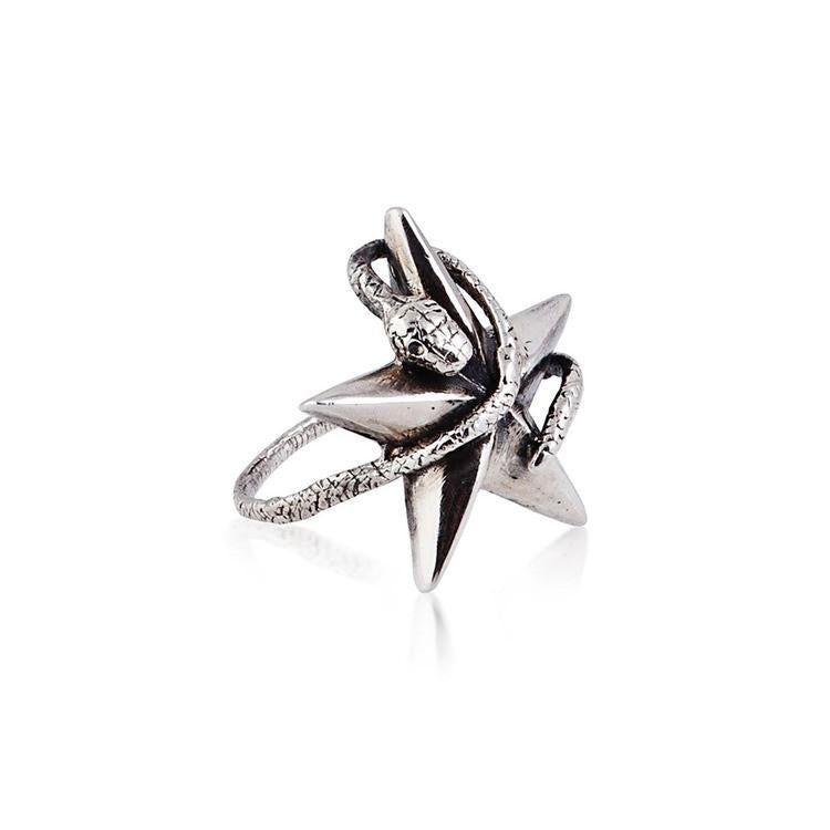 Momocreatura Snake Star Ring Sterling Silver