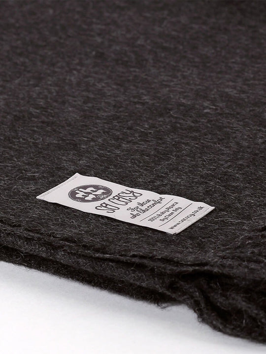 Baby Alpaca Soft Blanket - Charcoal Grey