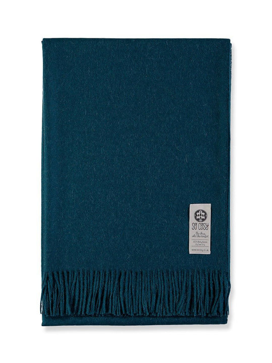 Baby Alpaca Soft Blanket - Deep Blue