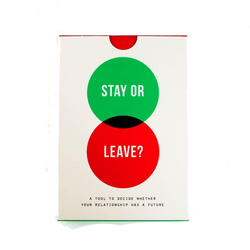 Stay or Leave Relationship Card Game by The School of Life London discover now at Cuemars