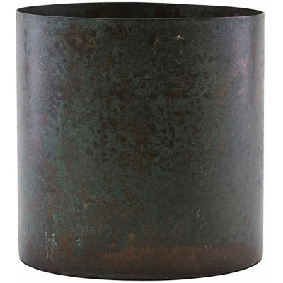 Steel plant pot / Green