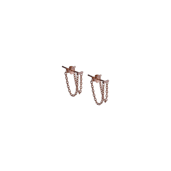 Fresh and minimalist chain earrings Scarlett by Keep it Peachy now online on Cuemars