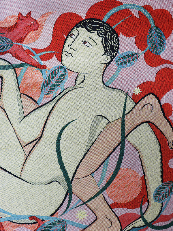 Tom Berry x Goodbond Artist Collaboration Throw 'Stillness' - Close up Details