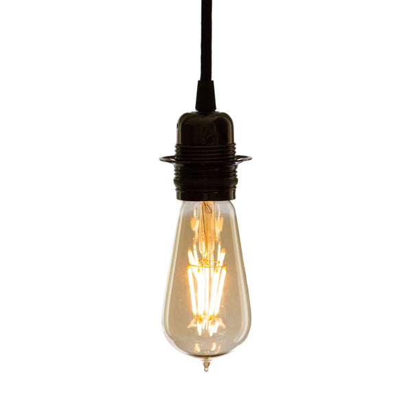 LED light bulb teardrop Edison style vintage and industrial lighting cuemars