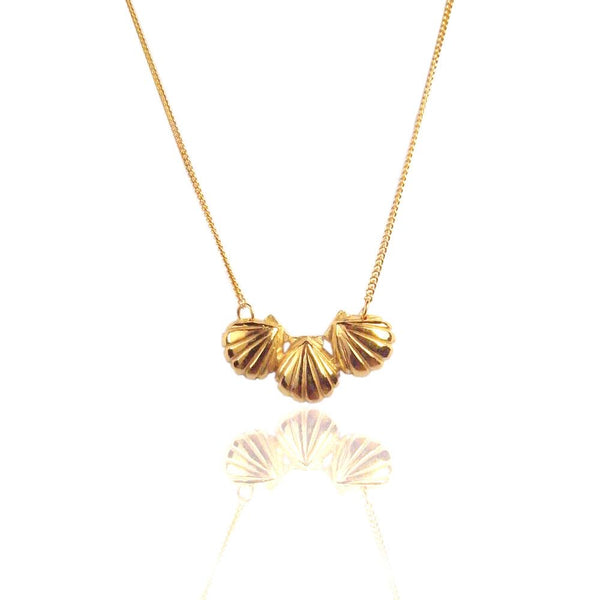 Momocreatura Triple Shell Gold Plated x Sterling Silver Necklace