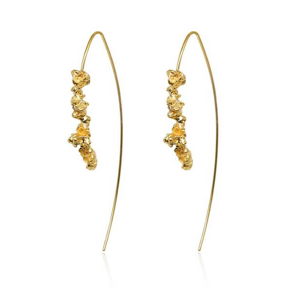 22ct gold plated under earth open hoops by niza huang