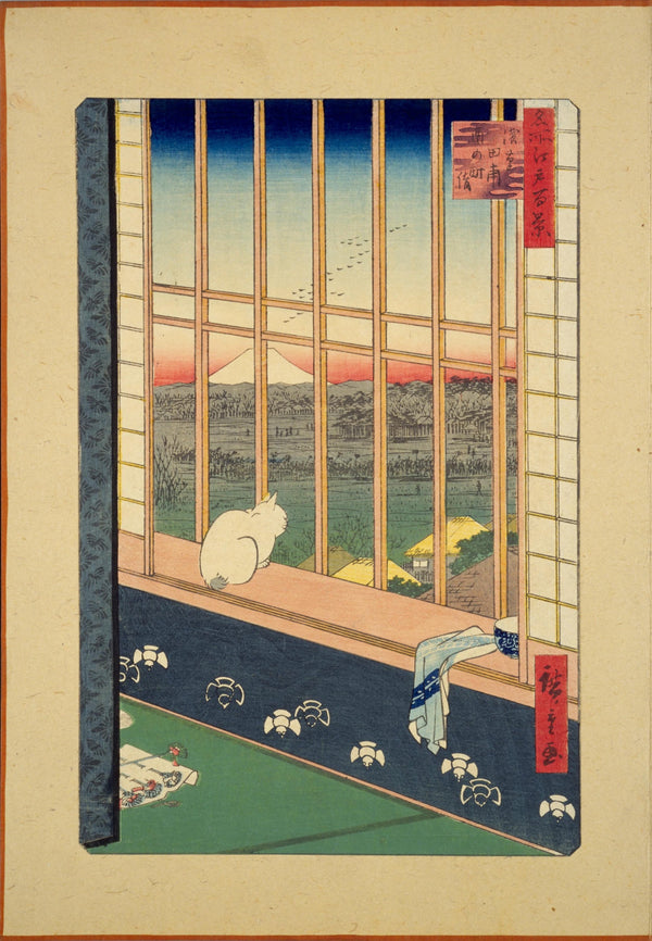 Ukiyo-e Japanese Print - Asakusa Rice Fields