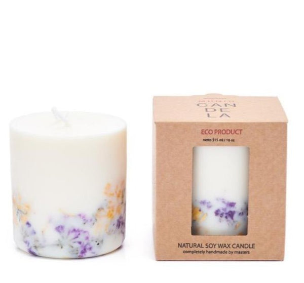 Wild flowers eco soy wax  candle