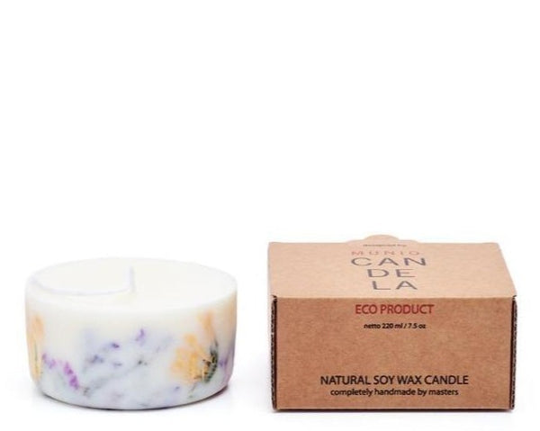 The Munio Soy Wax Mini Candle with Wild Flowers Natural Scents