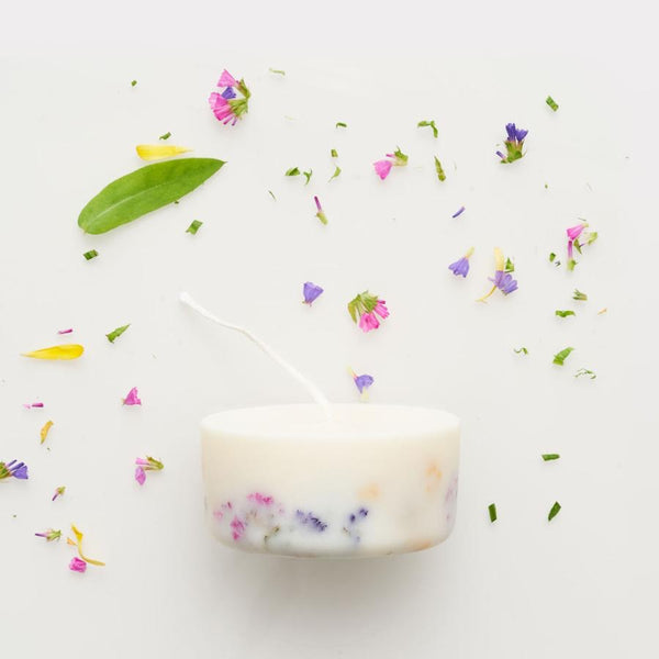 Wild flowers mini candle