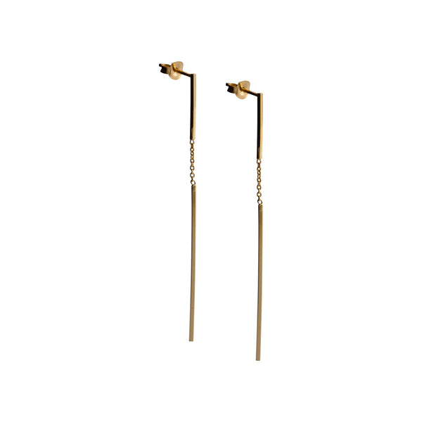 Zelus Gold Drop Earrings by Corosch | Discover now at Cuemars