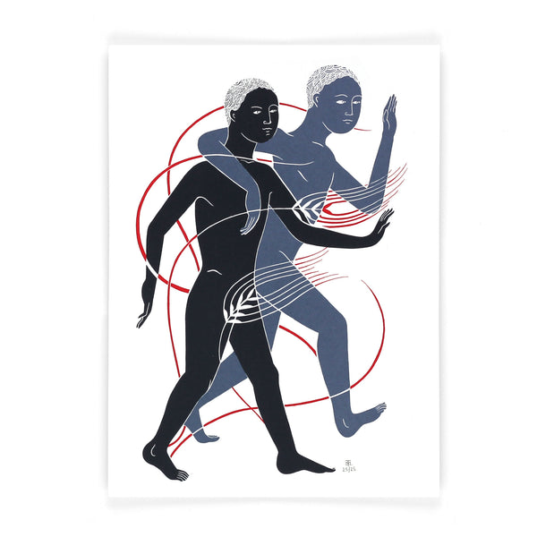 limited edition adam and adam screen print by Tom Berry